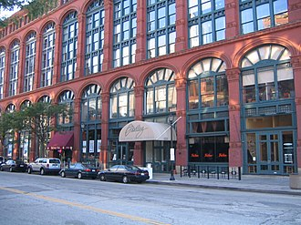 Warehouse District, Cleveland - The Bradley Building is a restored warehouse, now apartments.