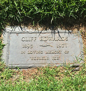 Cliff Edwards - Grave of Cliff Edwards at Valhalla Memorial Park