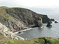 Cliffs and stack - geograph.org.uk - 551017.jpg