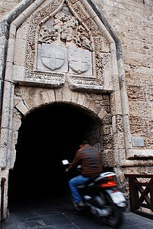 Close up look of the streets of the old town of Rhodes (World Heritage City, UNESCO). Rhodes, the island of Rhodes, the Dodecanese, Greece.jpg