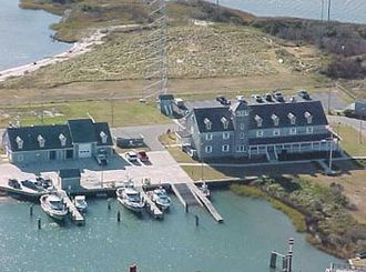 Oregon Inlet - Oregon Inlet Coast Guard Station, built for $3.5 million in 1990, as it looked in 2009.