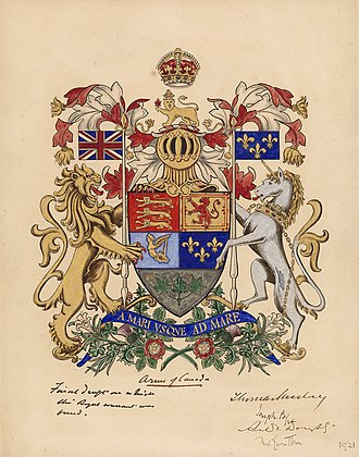 Arms of Canada - Image: Coat of arms of Canada (1921)