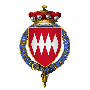 Giles Daubeney, 1st Baron Daubeney - Arms of Sir Giles Daubeney, 1st Baron Daubeney, KG: Gules, four fusils conjoined in fess argent