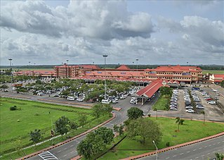 International airport serving Cochin, India