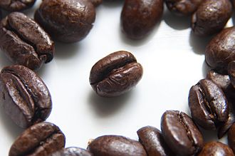 Commodity - Image: Coffee Beans Photographed in Macro
