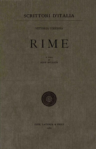 File:Colonna, Vittoria – Rime, 1982 – BEIC 1789098.djvu
