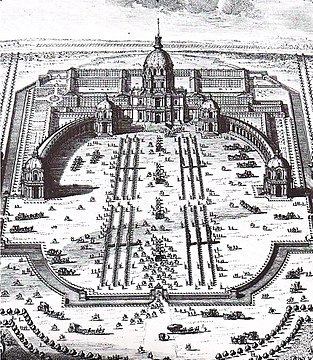 Colonnade of Les Invalides in 1700.