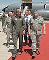 Commander of The Strategic Command General Kevin P. Chilton during a visit to Grissom Air Reserve Base.jpg