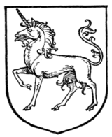 Fig. 415.—Unicorn passant.
