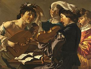 Dirck van Baburen - Dirck van Baburen, Concert, 1623, oil on canvas, Hermitage Museum at Saint Petersburg.