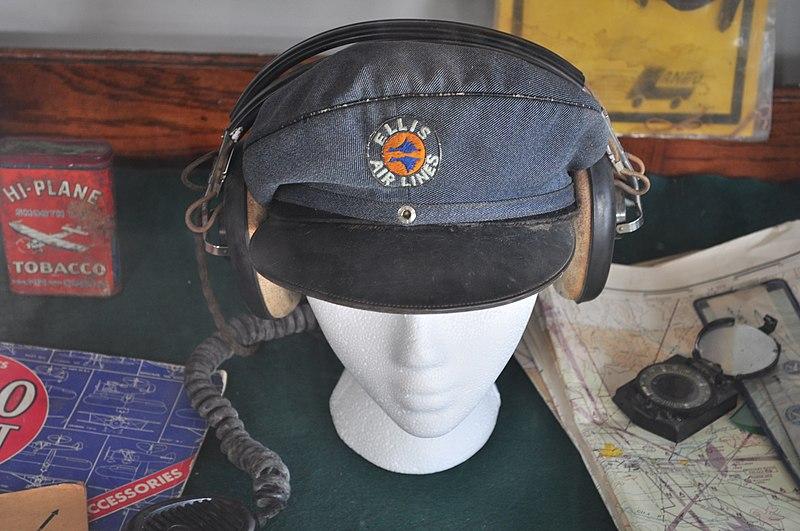 File:Concrete, WA - Mears Field - Bolan & Son hangar - Ellis Airlines hat, etc. 01.jpg