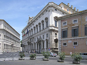 Quirinal Hill - The Constitutional Court of Italy in Palazzo della Consulta, is among the Quirinal Hill government buildings in Rome.