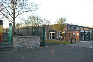 Coolmine Community School - View of main entrance into Coolmine Community School