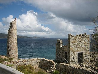 Copper Mine, Virgin Gorda - The ruins at Copper Mine point, Virgin Gorda