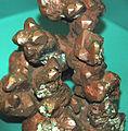 Copper crystals with cuprite coating (Mesoproterozoic, 1.05-1.06 Ga; Kearsarge Mine, Kearsarge, Michigan, USA) (17313358891).jpg
