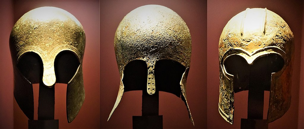 Corinthian Helmets - Museum of Cycladic Art, Athens - Joy of Museums