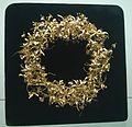 Corona a foglia d'oro da Montefortino di Arcevia 2 - Museo archeologico nazionale delle Marche.jpg