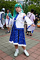 Cosplayer of Sanae Kochiya, Touhou Project at CWT40 20150809.jpg