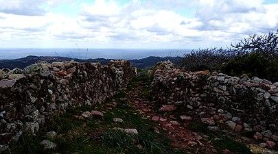 Costa dels alocs a fornells desde castell de santa águeda.jpg
