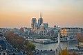 Couché de soleil sur Notre Dame, pris depuis l'Institut du Monde Arabe, Paris, France.jpg