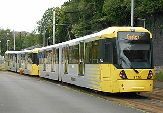 Bombardier M5000 Tram used on Manchester Metrolink