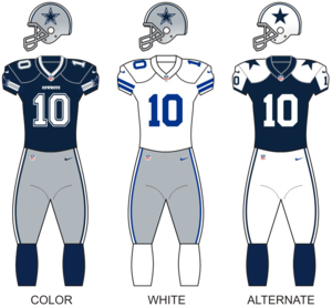 2012 Dallas Cowboys season - Image: Cowboys uniforms 12
