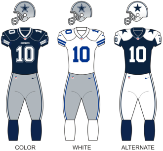 2006 Dallas Cowboys season - Image: Cowboys uniforms 12
