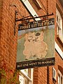 Crediton, pub sign for the Three Little Pigs - geograph.org.uk - 1464715.jpg
