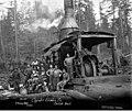 Crew with donkey engine, Copalis Lumber Company, near Carlisle, ca 1917 (KINSEY 2067).jpeg