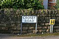 Crosby Road street sign, West Bridgford - geograph.org.uk - 1748605.jpg