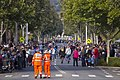Crowd lining up along Baylis St, ahead of the ANZAC Day march.jpg