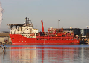 Floating production storage and offloading - FPSO Crystal Ocean moored at the Port of Melbourne
