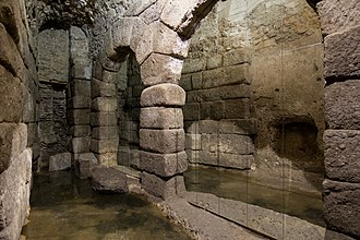 Toledo, Spain - Roman Cave of Hercules, part of the sight Subterranean Toledo