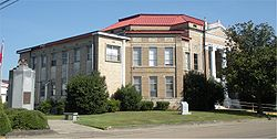 Current Lamar County Courthouse in Purvis, Mississippi, circa 1956.