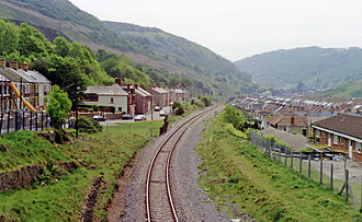 Cwm railway station - Station site in 1990.