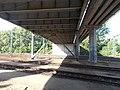 Dózsa György út overpass bridge, underside, 2017 Tatabánya.jpg