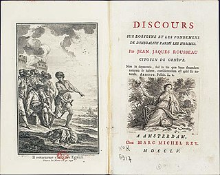 <i>Discourse on Inequality</i> work by Jean-Jacques Rousseau