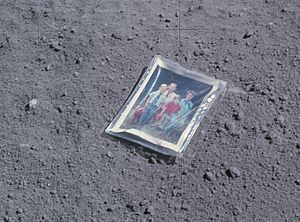 Charles Duke - Family picture Duke left on the Moon
