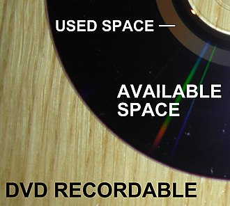 DVD recordable - Image: DVD R