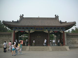 Dacien Temple Building in Shaanxi, China