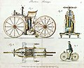 Daimler Reitwagen color drawing 1885 DE patent 36423.jpg