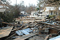 Damage and destruction to houses in Biloxi, Mississippi by hurricane Katrina 14605.jpg