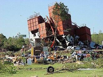 Tornado outbreak of May 1–2, 2008 - Tornado damage in Damascus, Arkansas on May 2, 2008