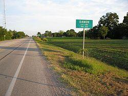 Damon Texas Road Sign.JPG