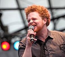 Daniel Lindström at the National Day celebrations 2009.jpg