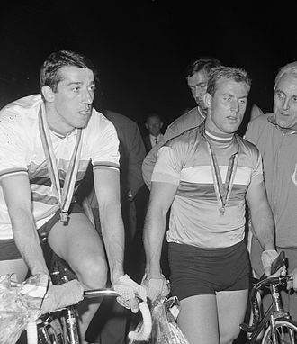 Daniel Morelon - Morelon (left) and Trentin at the 1967 world championships