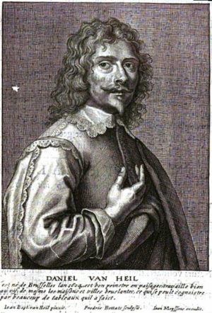 Frederik Bouttats the Younger - Portrait of Daniel van Heil from Het Gulden Cabinet.