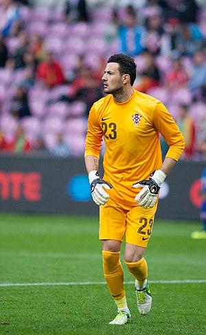 Danijel Subašić - Subašić with the national team