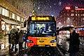 Danish bus 9A at Christianshavn in the snow. Winter in Copenhagen, Denmark (København, Danmark) - Flickr - Kristoffer Trolle.jpg