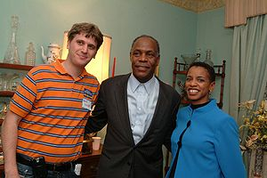 Donna Edwards - Edwards with Danny Glover and Matt Stoller, January 2008.